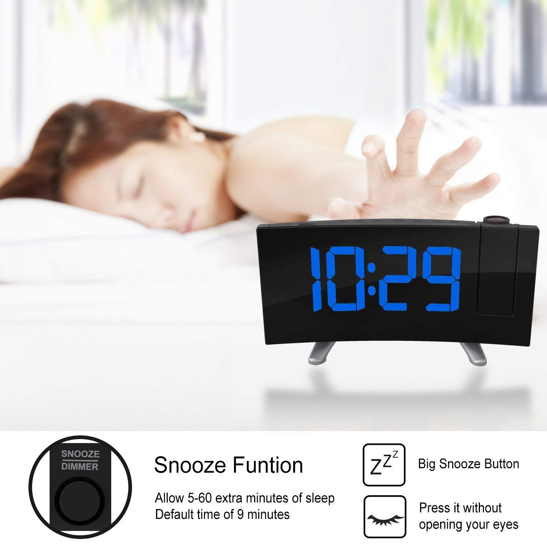 Amazon.com: Relojes de alarma para dormitorios – Cable de ...