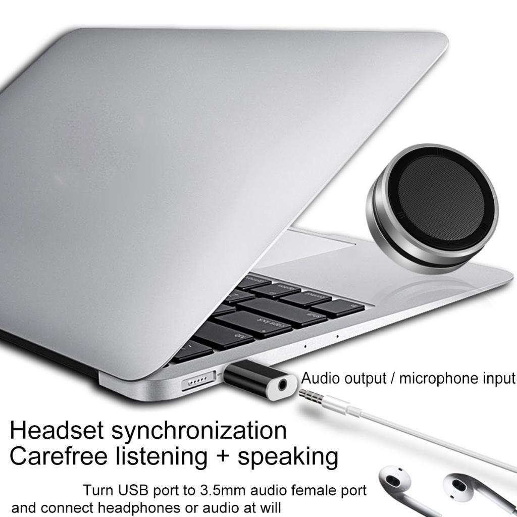 Schwarz Homyl USB Externe Einloch Mini-Soundkarte USB 2.0 Stecker zu 3,5mm Klinke Buchse 7.1 Kanal Audio 3D Soundkarten Adapter USB-Soundkarte Kopfh/örer und Mikrofon 2 Spiel 1 Alle 2 Farben