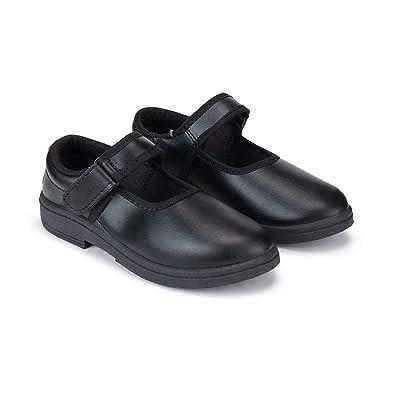 Zenwear Girls' Black Velcro School