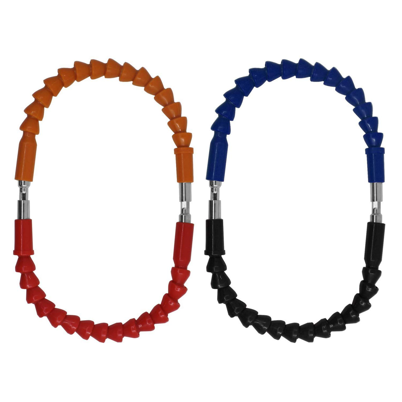Noir Rouge Rallonge /à Cardan 29,5cm pour Perceuse Visseuse Tournevis Bleu Qrange Xrten Lot de 4 Tiges Souple Extension de Foret