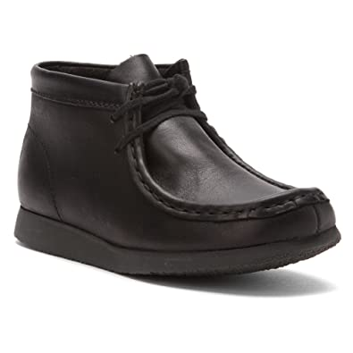 Clarks Wallabee Boot Black Leather 12 Toddler