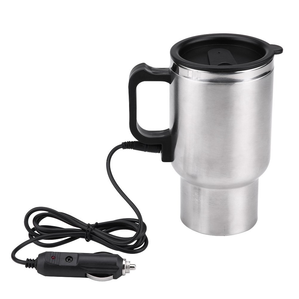Electric Car Kettles Boiling Heat Cup Insulation Insulated Bottles 450ml 12V Stainless Steel Cigarette Lighter Plug