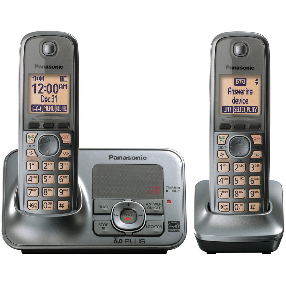 Amazon Panasonic Kx Tg4132m Dect 60 Cordless Phone With