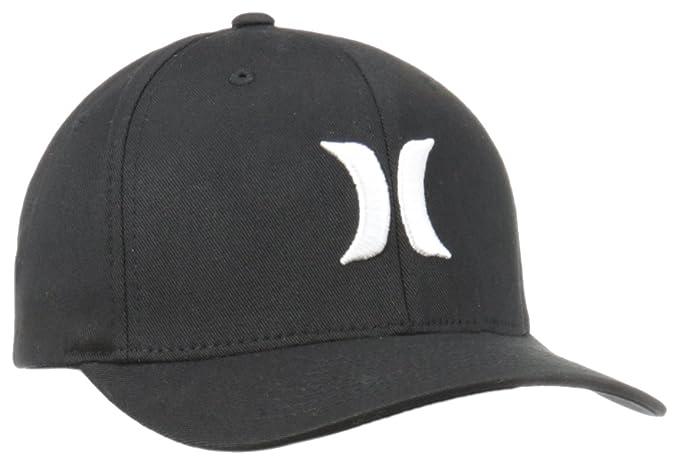 b12a1b3e88d Amazon.com  Hurley Men s One and Only Black White Hat  Clothing