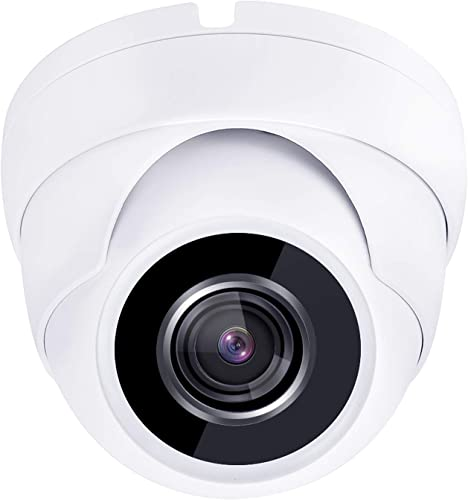 HDView 2.4MP 4-in-1 HD TVI AHD CVI 960H 1080P Outdoor Wide Angle 2.8mm Lens Black Film Technology Better IR Night Vision Turbo Platinum Dome Camera White