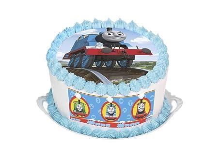 Thomas The Tank Engine Cake Topper Round Cake Topper Edible Rice