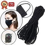 10 Yards Black Width Braided Elastic Band Elastic String Cord Heavy Stretch High Elasticity Knit Elastic String Rope for…