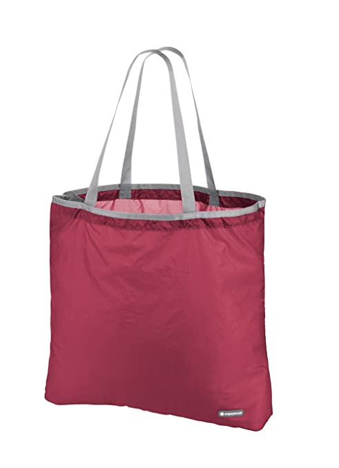 Ferrino - Bolsa De Compra Plegable Lydd De 15 litros, Color Rojo