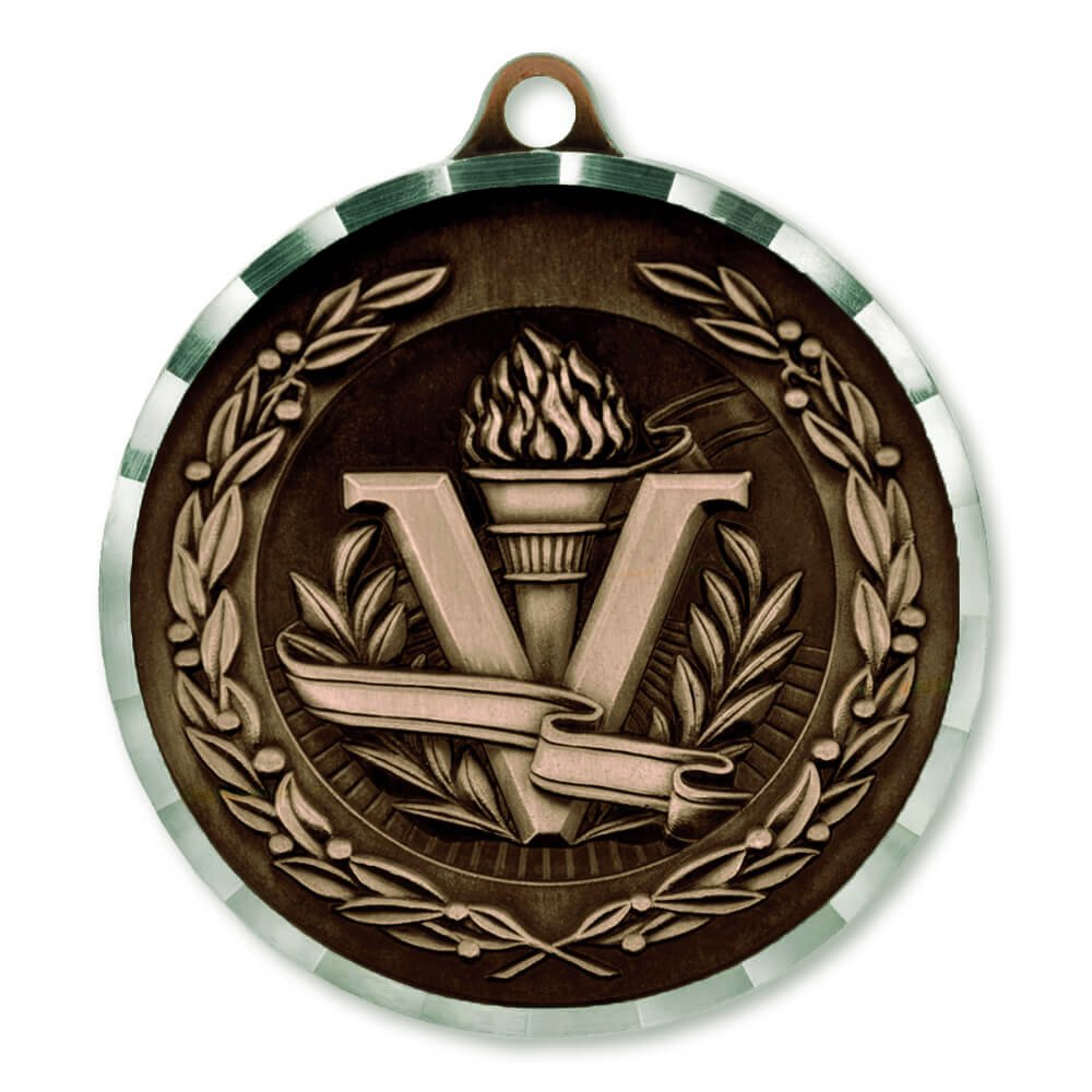 Victory Torch Award Sports Bulk Medal - Bronze