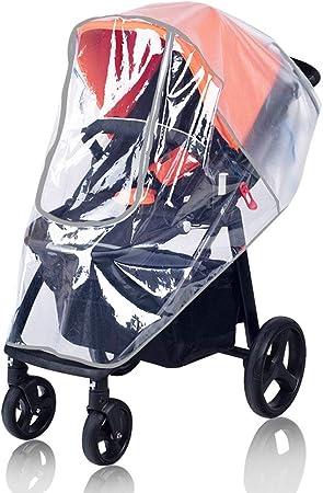 Transparente Cubierta de Lluvia para Cochecito ZUQ Protector de Lluvia Universal para Silla de Paseo Protector Impermeable para Carrito de Beb/é Talla /única