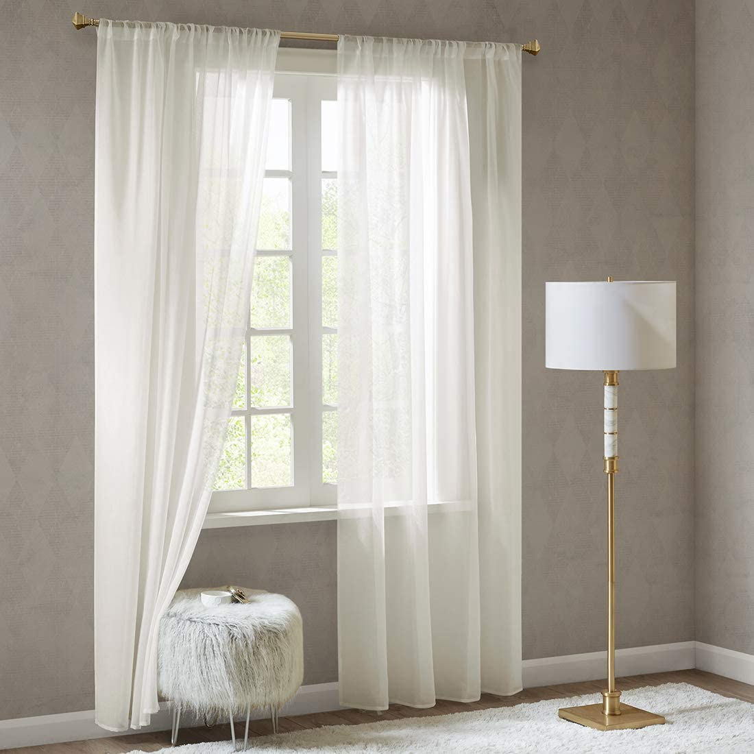 Scm Doris Sheer Voile Curtains Transparent Window Sheer Curtain Drapes 140x245cm Cream 2 Panels Classical Ultra Sheer Curtains With Rod Pocket Amazon Co Uk Kitchen Home