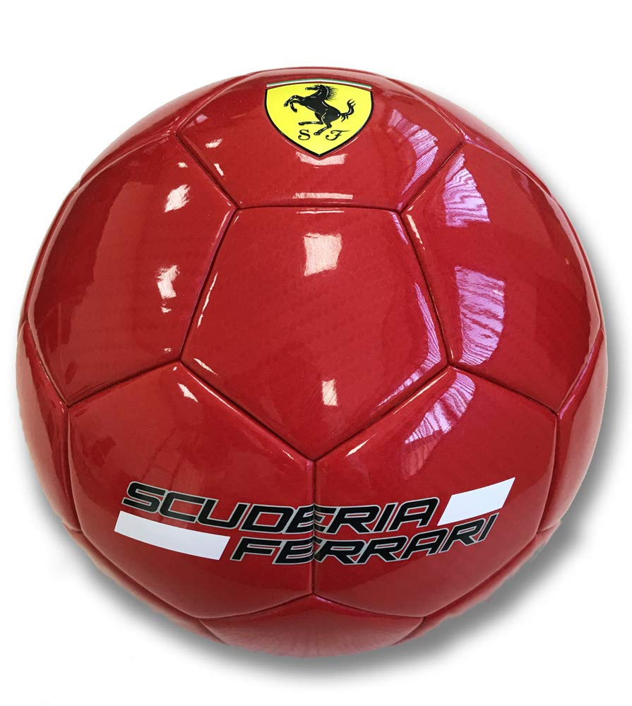 FERRARI F665 Balón de fútbol Laminado, Rojo/Negro, Talla única ...