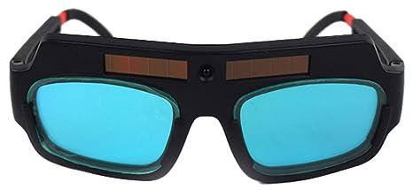 Icegrey Gafas de soldadura Máscara LCD Gafas Solares Soldador Lentes Protección de Los Ojos Negro Doble