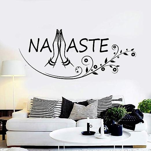 guijiumai Namaste Cartas Arte de La Pared Tatuajes de Yoga Budismo ...