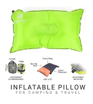 Camping Pillow With Pillowcase By Inspired Equipment