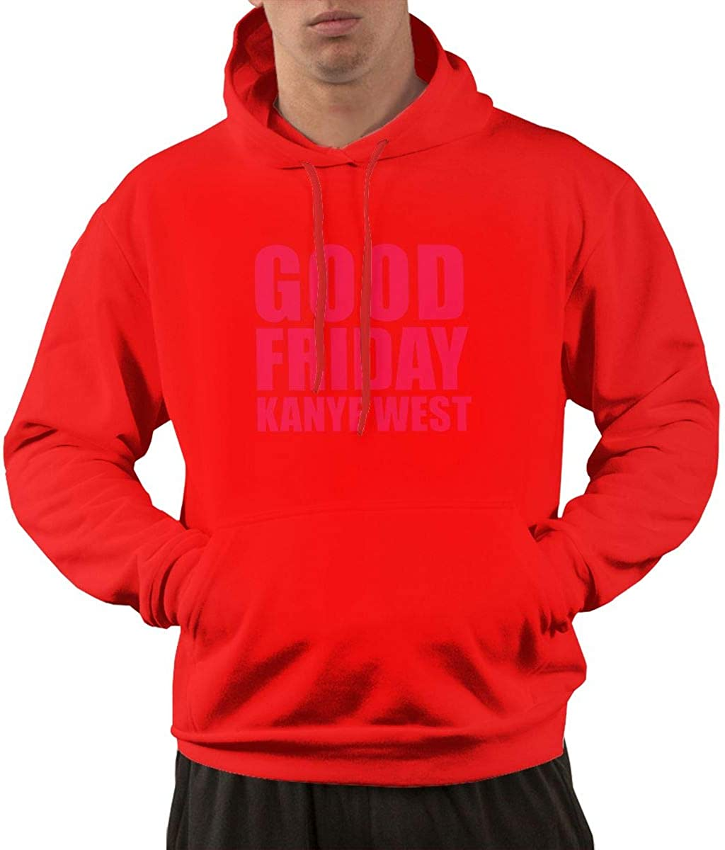 STDONE Mans Casual Kanye West Good Fridays Logo Sweaters Black