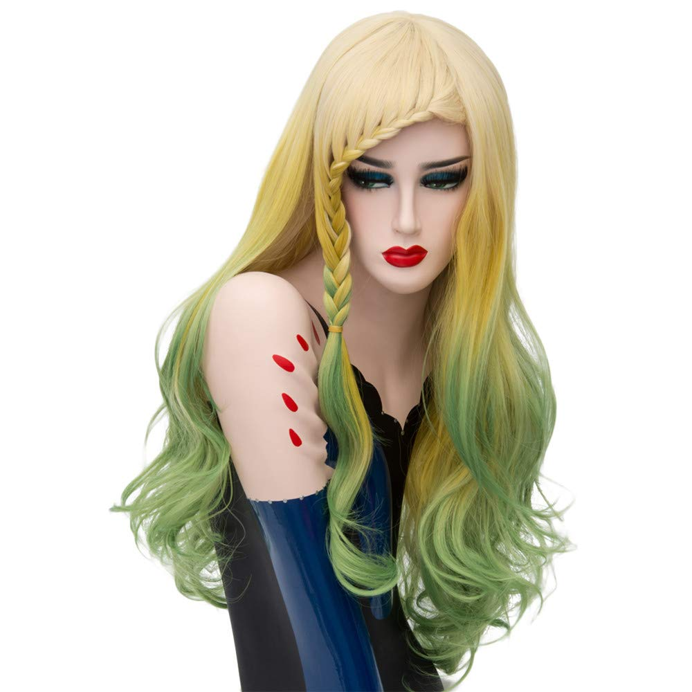 LONG LOVE Wig European and American Fashion Dyed Gradient Color Wigs Trend Hot Wigs (03)