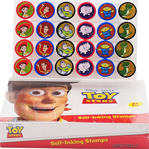 Disney Toy Story Self-inking Stamps Birthday Party Favors 24 Pieces (Complete Box)]()