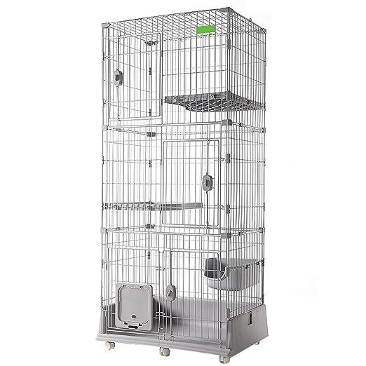 LTLJX 4 Niveles Jaulas para Gatos, Interior Gatos Condo ...