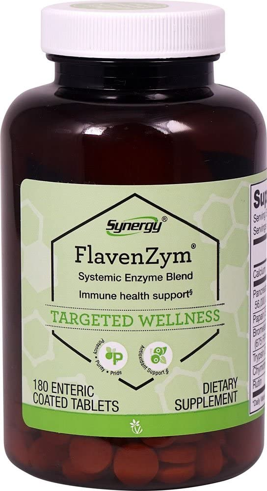 Vitacost FlavenZym Systemic Enzymes — 180 Enteric Coated Tablets