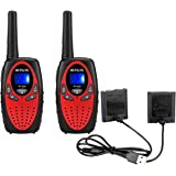 Retevis RT628 Kids Walkie Talkies with BL45 Rechargeable Battery Bundle 1000mAh 22 Channel FRS Toy for Kids (2 Pack)
