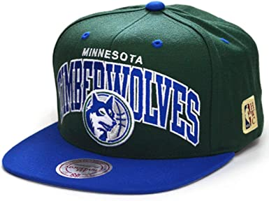 Mitchell & Ness Gorras Minnesota Timberwolves Team Arch Green/Blue ...