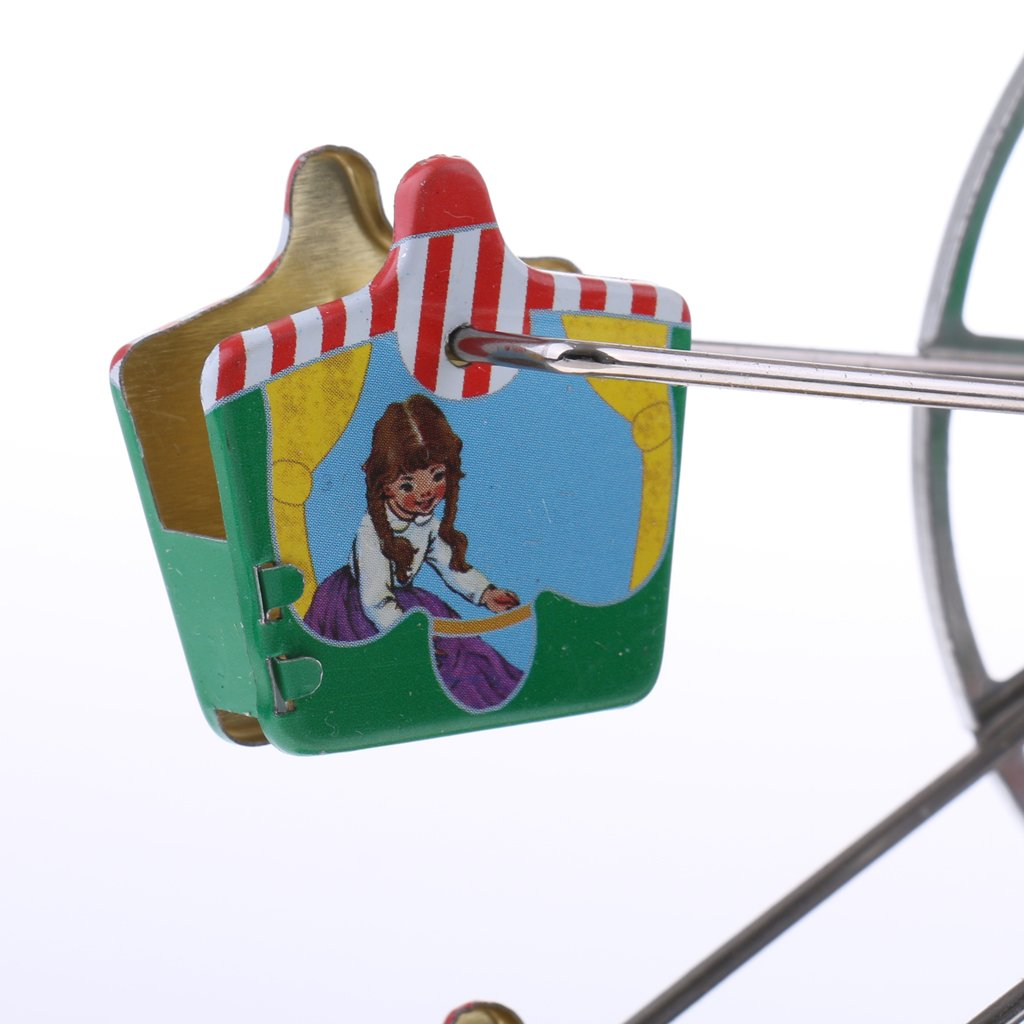 Dovewill Retro Wind up Spinning Ferris Wheel with Music Movement Clockwork Metal Tin Toy Collectible Gift by Dovewill (Image #7)