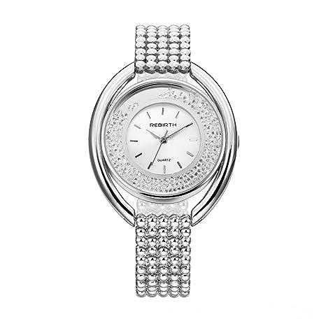 Relojes De Pulsera Redondos Grandes De Las Señoras 07abf5ff6035