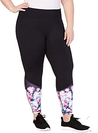Ideology Womens Mid-Rise Workout Athletic Leggings