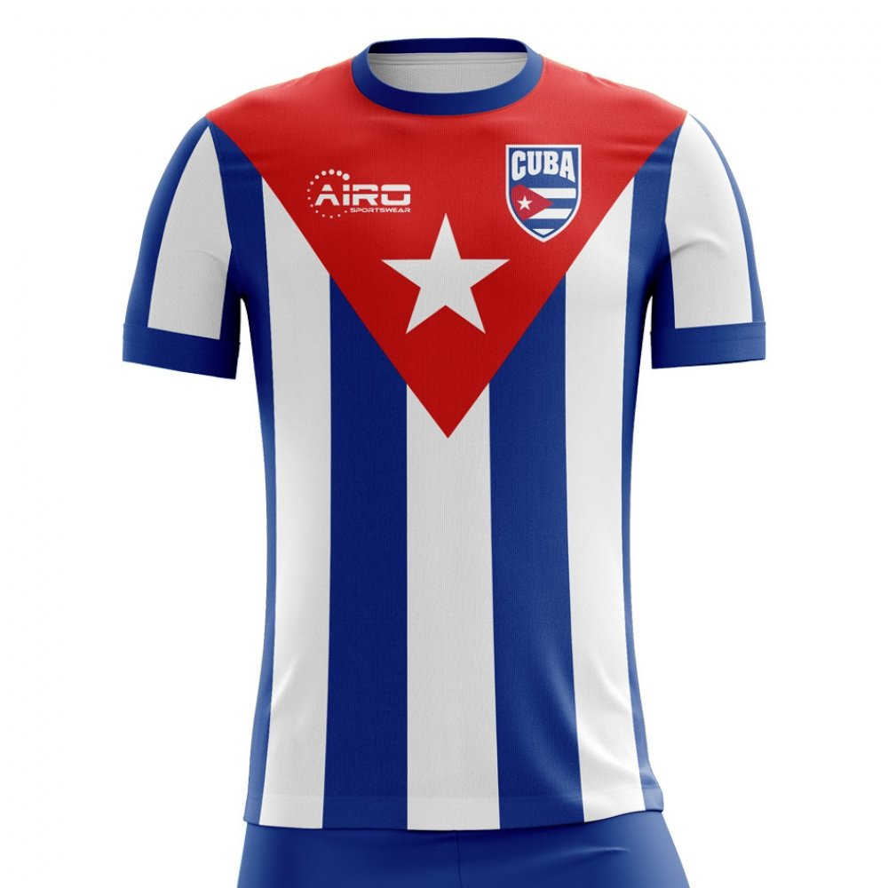 3c22cf06f0c Amazon.com   Airo Sportswear 2018-2019 Cuba Home Concept Football Soccer T-Shirt  Jersey   Clothing