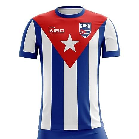 fd3763491 Amazon.com : Airo Sportswear 2018-2019 Cuba Home Concept Football Soccer T-Shirt  Jersey : Clothing
