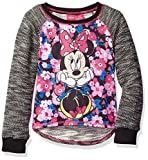 Disney Big Girls' Minnie Mouse Long-Sleeve Pullover, Black, 7/8