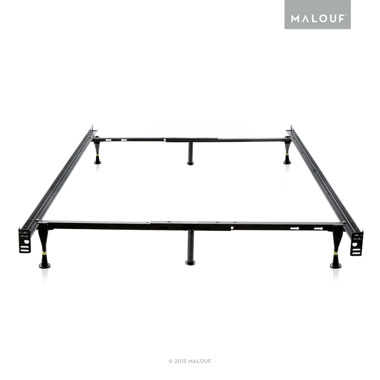 amazoncom structures by malouf heavy duty 6leg adjustable metal bed frame with glides only full twin kitchen u0026 dining