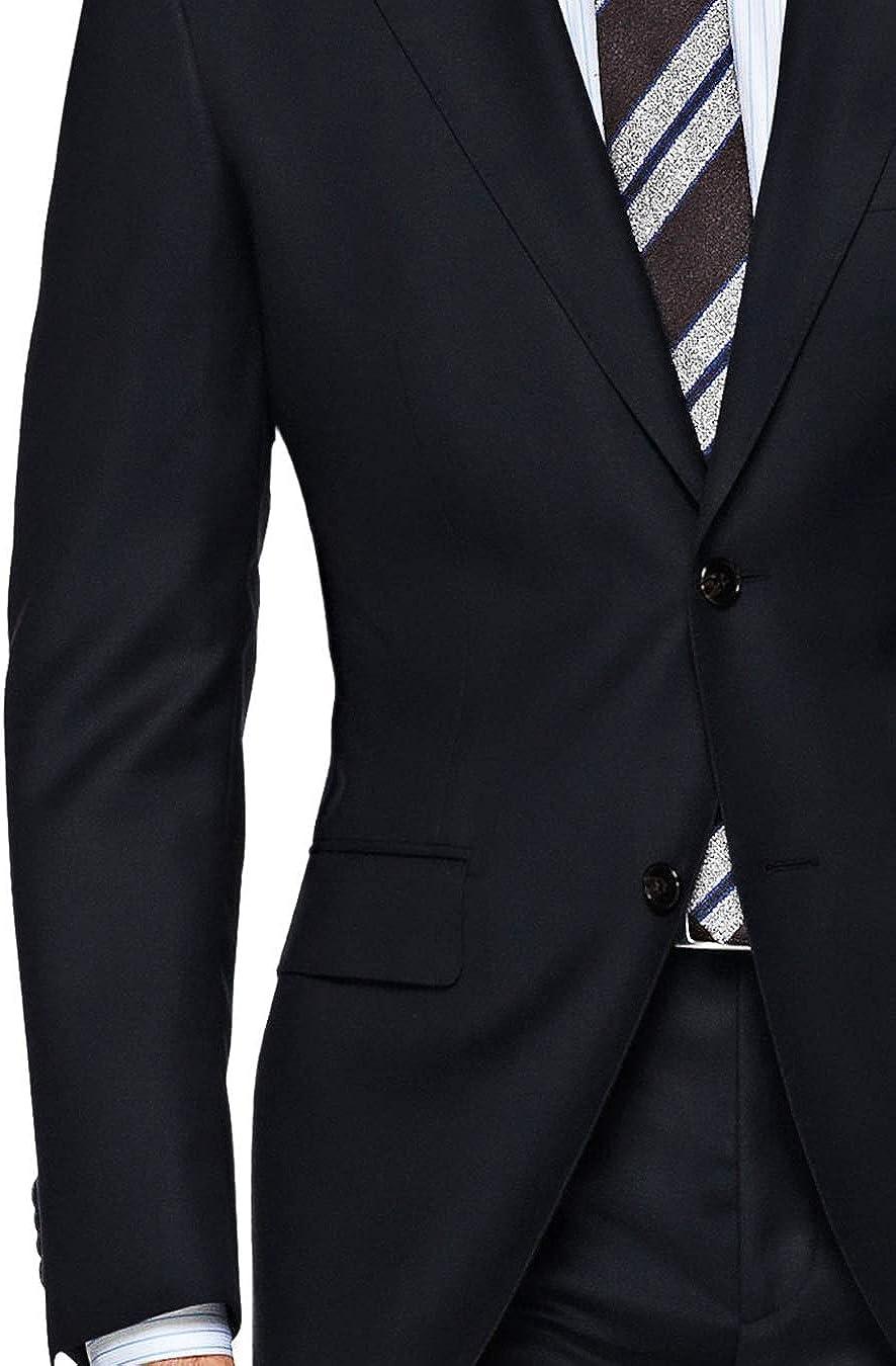DTI GV Executive Mens Modern Fit Two Button 2 Piece Suit Jacket Flat Front Pant