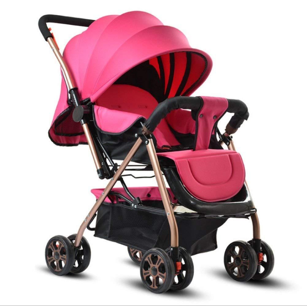 折りたたみベビーカーライトと快適なシェードベビーカー (色 : ピンク)  ピンク B07QRQ5T4S