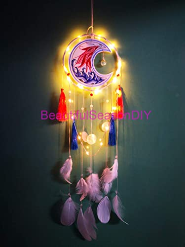 Como Decorar Una Campana De Boda.Light Boho Dream Catchers Dreamcaters De Plumas Blancas