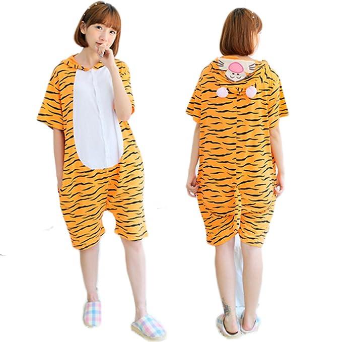 La mujer de manga corta pijama de una sola pieza de dibujos animados kawaii (Tiger