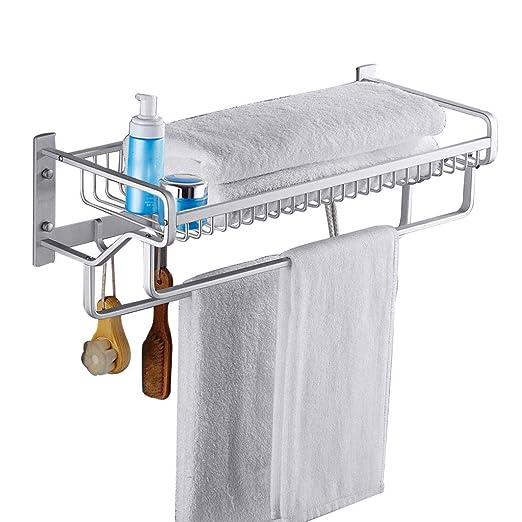 Estante de baño Espacio para El Hogar Perchero De Aluminio ...