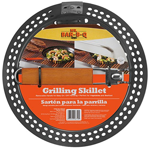 Mr. Bar-B-Q 06750X Non Stick Grilling Skillet with Removable Handle ()