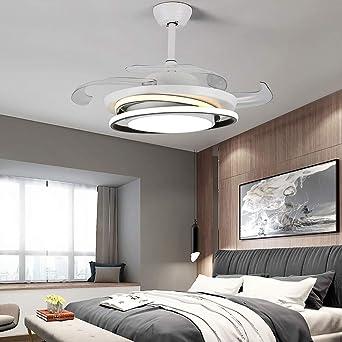 Ventilador de techo invisible con mando a distancia, 4 modos de ...