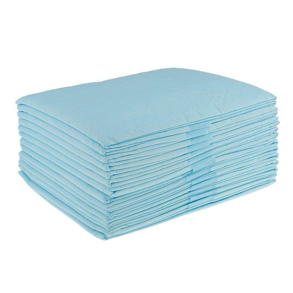 CUTICATE 50 Unids Desechables Incontinencia Almohadillas Impermeables Colch/ón Protector Absorbente Underpad Derrames Accidentes Bedwetting Beb/és Peque/ños Beb/és 33x25cm Azul