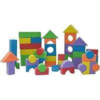Edushape 80-PieceTextured Brightly Colored Foam Building Blocks, Brights