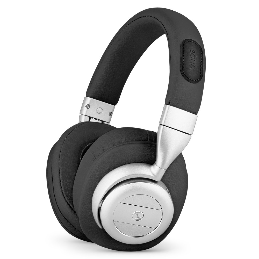 350855fc1d3 Amazon.com: BÖHM Wireless Bluetooth Over Ear Cushioned Headphones with  Active Noise Cancelling - B76: Electronics