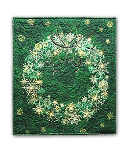 (Easy Quilt Kit - Stonehenge Evergreen Wreath Starry Night Complete Wall Hanging Kit with Lights - Free Priority Shipping!)
