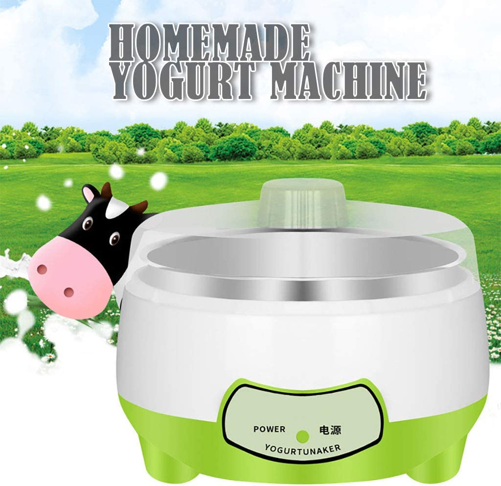 Flavored GREEN or Sugar Free Options for Baby Automatic Digital Yogurt Maker Plain Yogurt Maker Machine Perfect for Organic Kids Sweetened Machine for Yogurt for Kids Home Use /& Parfaits