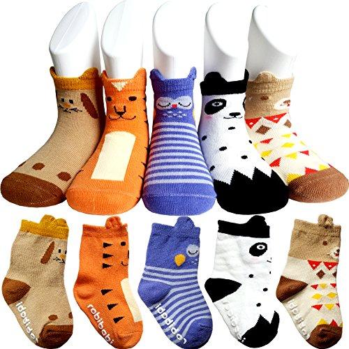 Baby 3D Anti-Slip Socks Set of 3 - 5
