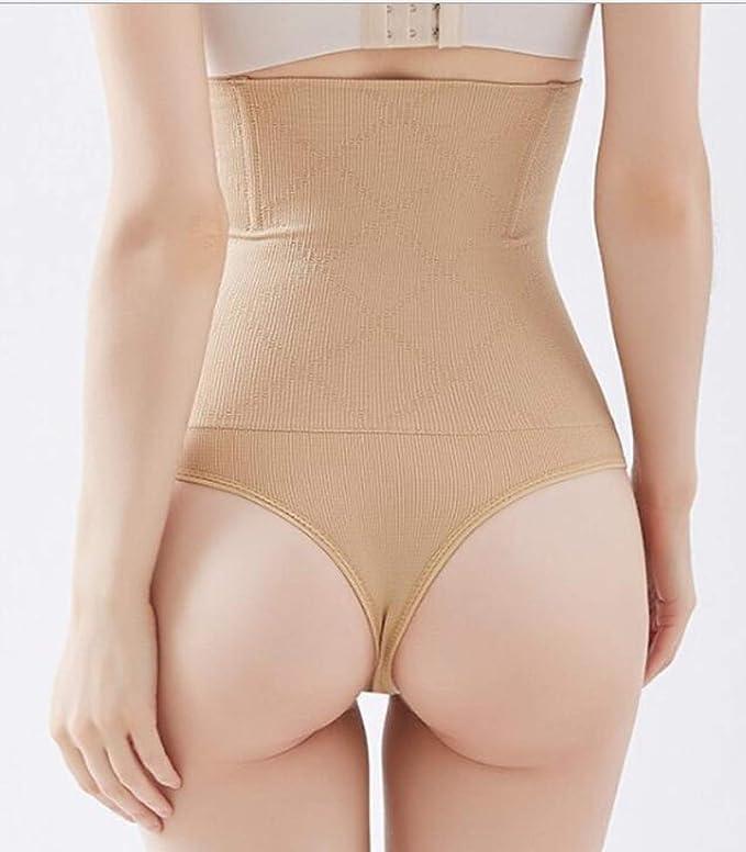 b2450df4a Women Waist Shapewear Thong Tummy Control Body Shaper Cincher Underwear  Girdle Thongs High Waisted Wear Slimmer Panties at Amazon Women s Clothing  store