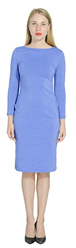 Marycrafts Women's Glitter Formal Cocktail Party Guest Dress L Blue