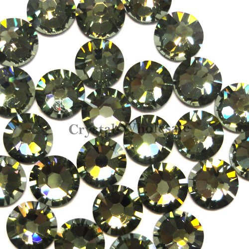 (144 pcs Black Diamond (215) Swarovski 2058 Xilion / NEW 2088 Xirius 20ss Flat backs Rhinestones 5mm ss20)