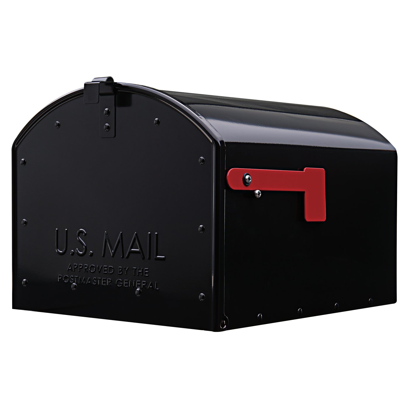 Gibraltar Mailboxes Storehouse Extra Large Capacity Galvanized Steel Black, Post-Mount Mailbox, SH400B01